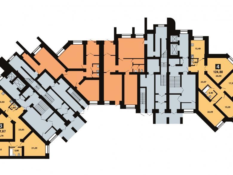 Планировка 3-го этажа - ул. Копылова, д. 5